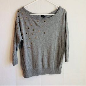 Ana Womans Gray Pullover Sweater